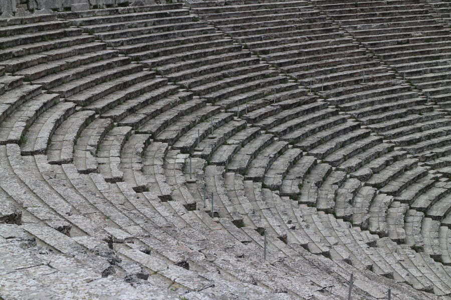 Agriculture Ampitheater Ampitheater Rock Ancient Ruins Ancient Structure Backgrounds Color Palette Color Photography Coloseum Dirt Full Frame Gray Grayscale High Angle View In A Row Landscape Non-urban Scene Outdoors Pattern Plowed Field Repetition Rural Scene Stone Steps Stone Structure Travel Destinations