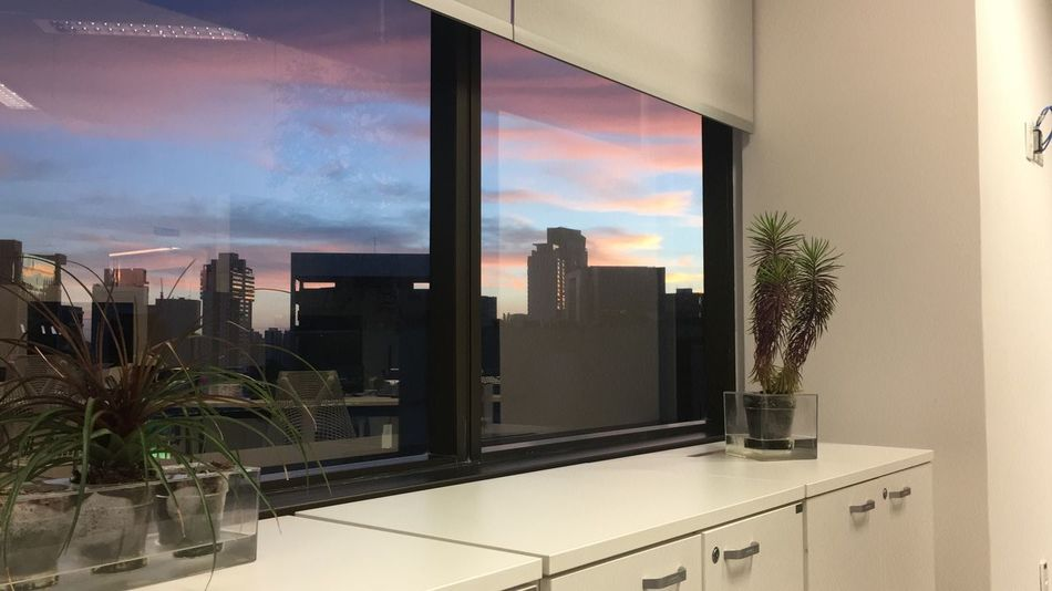 Saopaulo Sunset Office Work