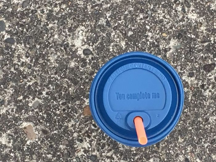 Joy in a cup! Circle Blue No People Close-up Lid Outdoors Coffee Coffee Cup You Complete Me Happiness In A Cup Dutch Bros Dutch Bros Coffee '