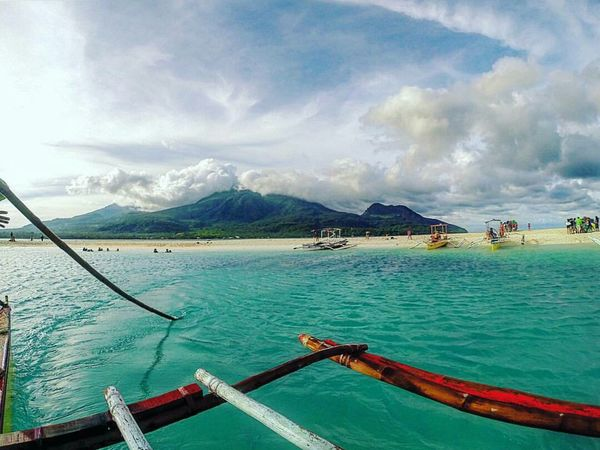 Beach Sand Sea Life No People Travel Destinations Vacations Water Sky Beauty In Nature Sea Outdoors Refreshment Boat Mambajao Camiguin White Island Camiguin Camiguin Philippines