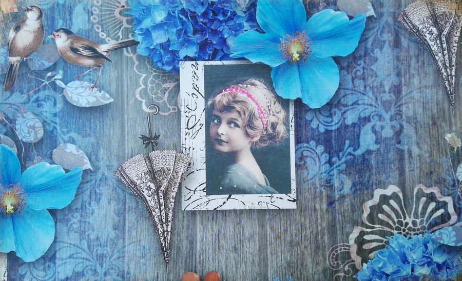 Decoupage by my mother Check This Out Decoupage Blue Just Taking Pictures Picture Of The Day Montage Backgrounds Background Designs Wallpaper