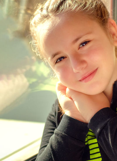 Portrait of cute smiling girl