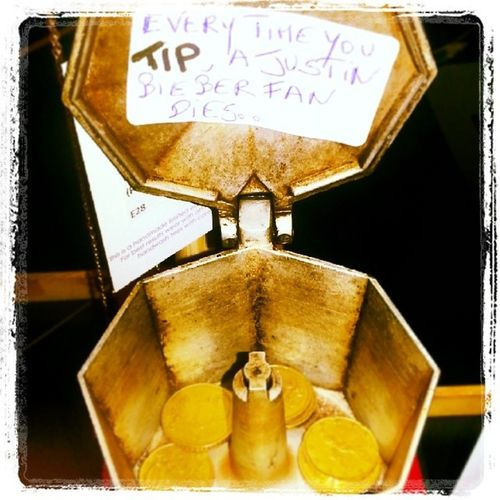 Our new tip jar at the counter Supportourcause TIP Funnytipquote Cafetiere