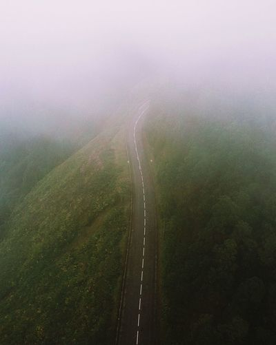 dramatic scenery 🛣 Wet Drop Water No People Nature Green Color Rain Outdoors Environment Fog Rainy Season Beauty In Nature Autumn Mood