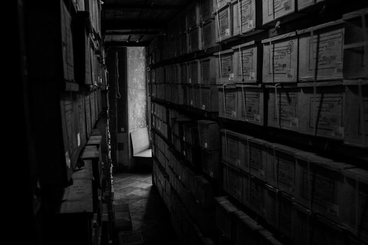 Old archive Archive Blackandwhite Document Empty In A Row Large Group Of Objects Long Narrow No People Paper Cinematic Black And White Black&white Storage Room Indoors  Fresh On Eyeem
