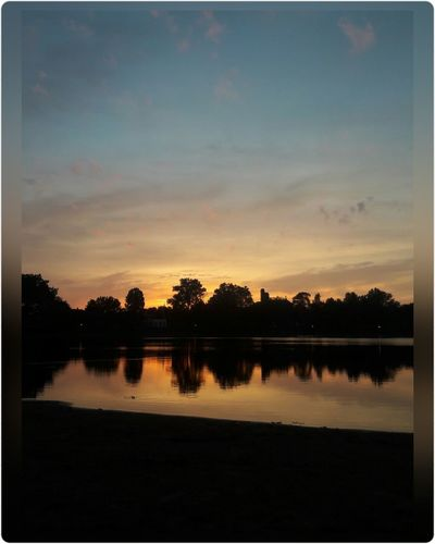 Lake sunset tree's Reflection Nature Outdoors Landscape Beauty In Nature