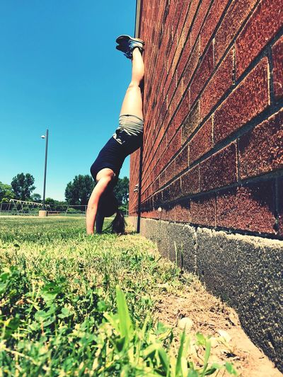 Bricks Real People One Person Lifestyles Leisure Activity Nature Plant Sunlight Sky Sport Motion