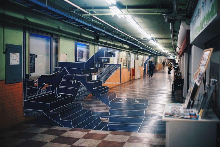 Sonya7 Sony A7 Full Frame Eye4photography  EyeEmBestPics EyeEm Best Shots Japan Streetphotography Street Photography Trompe-l'œil Underground Underground Station  Undergroundphotography Underground Passage