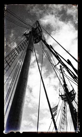 Blackandwhite Ship Yacht Barcos