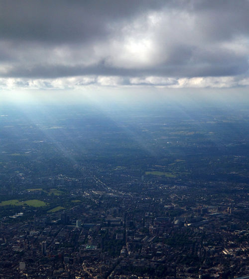 London summer 2016 Adapted To The City Aerial View Aeroplane View Alhaalla Apartments Buildings City Clouds Day Down Below Houses Ilmakuva Kaupunki Light Photomanipulation Pilvet Rakennukset Roads Streets Sun Beams Sunny Up In The Air