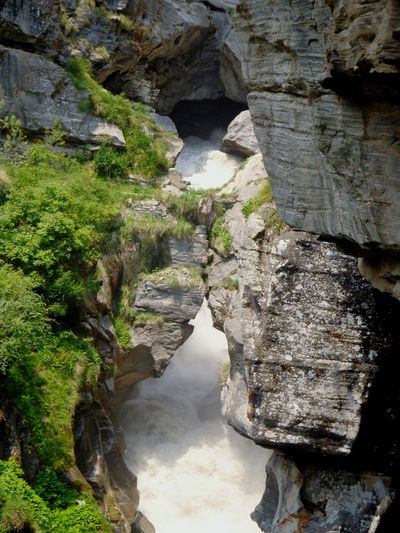 The birth place of Saraswati river near Badrinath Saraswati River Badrinath Uttarakhand India India Travel Cave