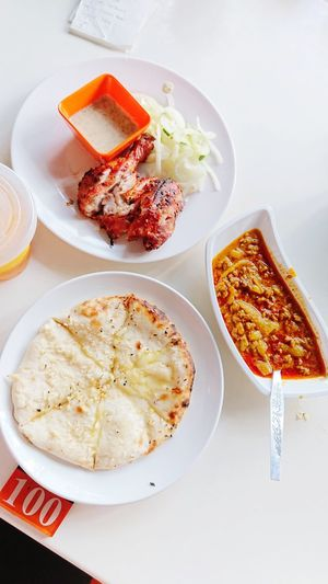 Cheese Naan Food Stories EyeEmNewHere Naancheese TandooriChicken Dhal Kuala Lumpur Malaysia  Malaysia Truly Asia Malaysian Food Lunch Time! Ice Tea Plate Food Food And Drink No People Sweet Food Indoors  Dessert Ready-to-eat Freshness Day