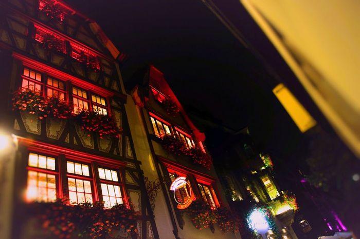 Strasbourg 😍👌🏼 Night iIlluminatednNo PeopleaArchitectureAAlsaceSStrasbourgcCityNNew LifeCColorsNNightphotographysStreetphotographysStreet PhotographysStreetlLow Angle View