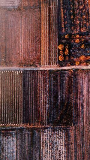 Full frame shot of rusty metal wood