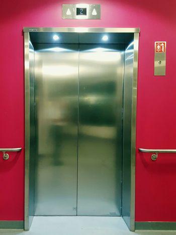 Elevator Lift Chrome Elevator Door Pink Pink Color