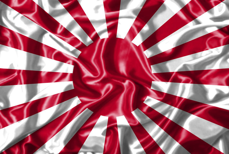 Japan flag painting on high detail of wave cotton fabrics . Backgrounds Close-up Crumpled Day Flag Flag, Japan, Cloth, Illustration, 3d, Detail, High, Cotton, Background, Pattern, Symbol, Texture, Graphic, Style, Wallpaper, Sign, Backdrop, Day, Dark, Banner, Paint, Surface, Country, Textile, Fabric, National, Wind, Japanese, Canvas, Silk, Spray, Intern Full Frame Indoors  No People Patriotism Pattern Red Striped Textile
