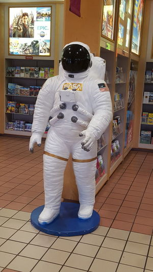 NASA space suit Standing NASA Astronaut Suit Cape Canaveral Florida