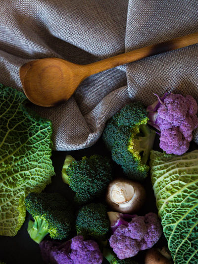 vegetables Savoy Cabbage Leaf Wooden Spoon Cooking Food And Drink Olympus Broccoli Cauliflower And Broccoli Champignons Close-up Day Edithnerophotography Food Food Photography Healthy Food Indoors  Kitten No People Raw Food Raw Vegetables Savoy Cabbage Savoy Cabbage Leaf Vegetable