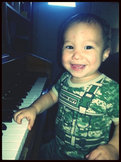 Playing piano never looked so cute. Baby sitting this wonderful guy. Enjoying Life Playing Piano Babysiting