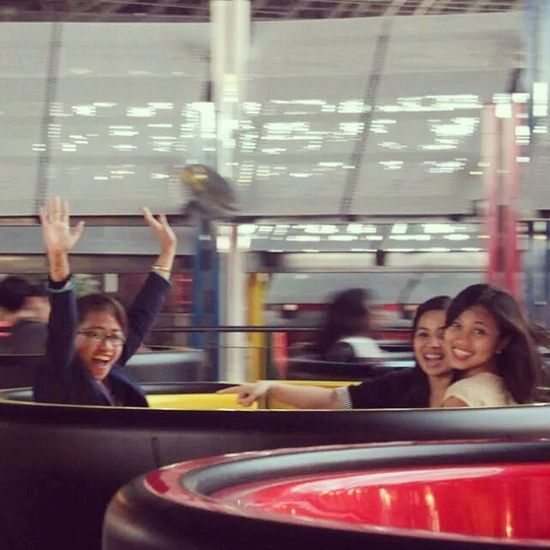 I looked nuts in here but the hell I care. Who would have thought I would ride a roller coaster twice? Lol. One of the happiest days. I miss you girls! Let's get ready for the next adventure! Ferrariworld Abudhabi Rides Fun girls friends girlfriends happyday happy life fun letsgetlost