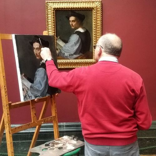 Picture of the painter painting the painting! - Foto do pintor pintando a pintura 😂😆 Nationalgallery London Pintacomoeupinto