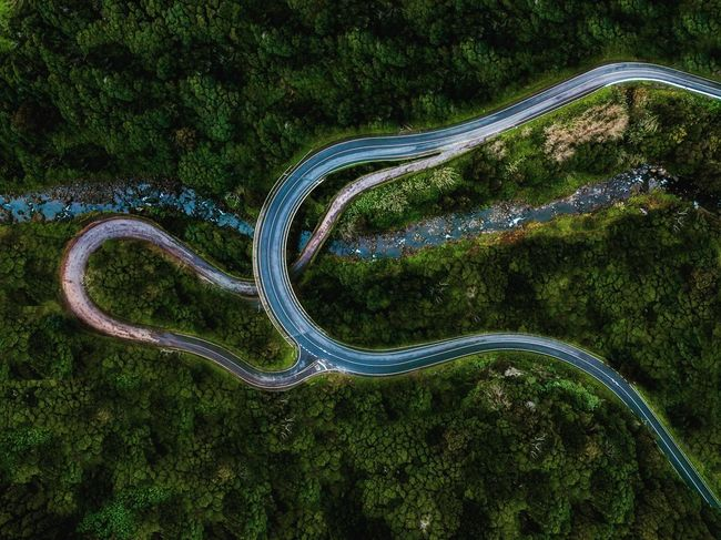Curve Road High Angle View Winding Road Transportation Aerial View Car Landscape Nature Tree Asphalt Road Trip No People Day Plant Outdoors Scenics Mountain Beauty In Nature Fashion Stories