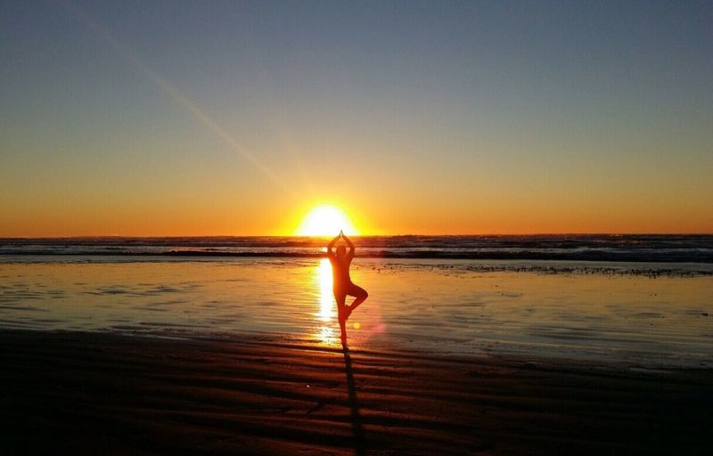 Happy New Year Happy New Year 2016 IPhoneography Sky_collection Sun_collection My Sunset Obsession EyeEm Nature Lover Beachphotography My Happy Place  Life Is A Beach Ocean Shores Being A Beach Bum Yoga Pose Sunset_collection New Day New Year