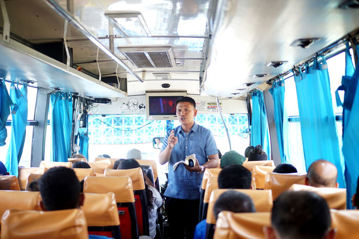 A preacher on the bus while I was on my way to just preached and did not ask for donations which is not usual. Bible Study Bus Ride Christianity Commuting Hats Off Preacher Preaching The Gospel Of Jesus Christ  Respect Belief Commuting Life Preaching Preaching The Bible Religion Religion And Beliefs The Street Photographer - 2018 EyeEm Awards The Photojournalist - 2018 EyeEm Awards