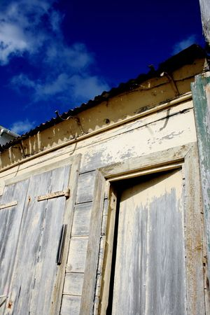 Old Houses Wood Bleu Sky Behind The Door Open Door Cityscapes Streetphotography Wood Building Sunny Day Empty Places Quiet Places Deserted Blue