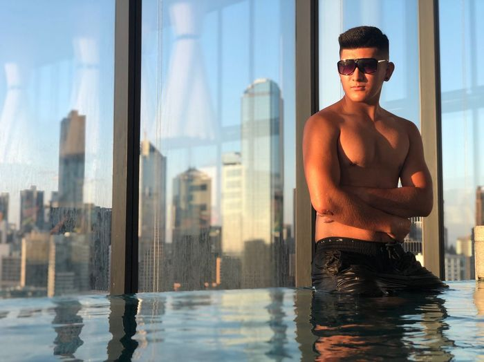Photography My Best Photo Modeling Model Fashion Sunglasses Water City Glasses One Person Architecture Lifestyles Healthy Lifestyle Men