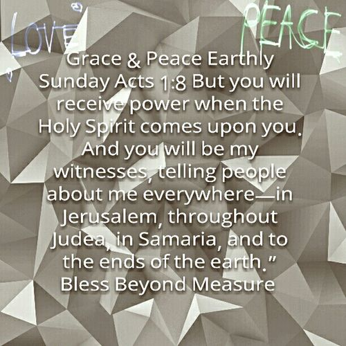 Grace & Peace Earthly Sunday