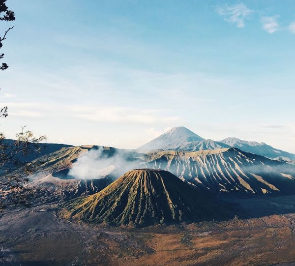 bromo Mountain Volcano Sky Cloud - Sky Nature Scenics Physical Geography Volcanic Landscape Tranquility Bromo INDONESIA Volcanic Crater No People Tranquil Scene Beauty In Nature Outdoors Travel Destinations Landscape Day
