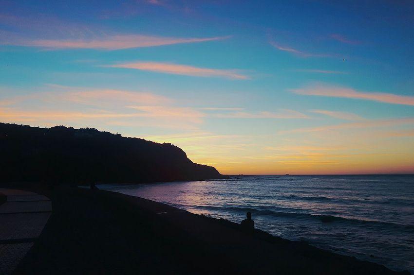 The Hidden Sunset ! Rocks Sea Waves Seaside Landscape Sky Cloud Sunset Clouds Colors Tangier Morocco