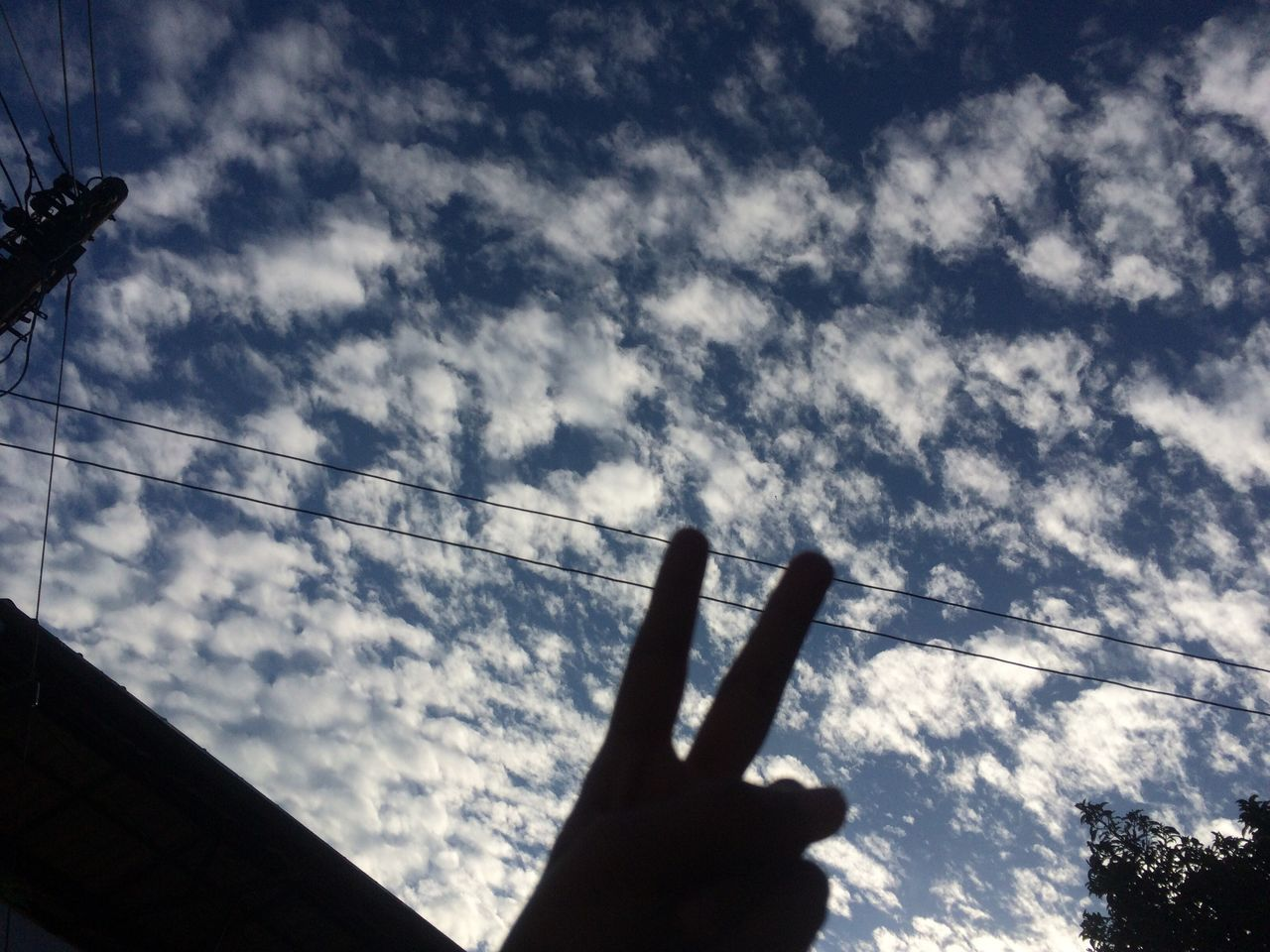 human hand, human finger, sky, gesturing, unrecognizable person, cloud - sky, silhouette, one person, real people, low angle view, human body part, day, outdoors, nature, close-up, people