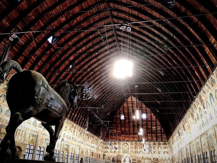 Padova, Aprile 2019 Architecture Hdr_Collection Museum Interior Ceiling Art Illuminated