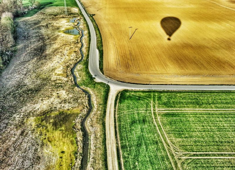 Flying high over the fields of Deggendorf Eyem Best Shots Popular Photos Nature The Path Less Traveled By Pointer Footwear