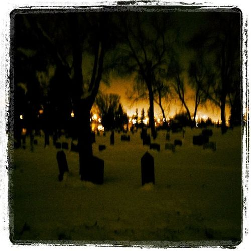 Early morning graveyard