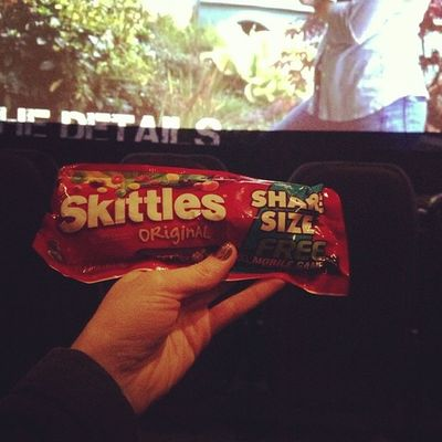 Movie theaters with my mamma! Skittles Movies Taken2