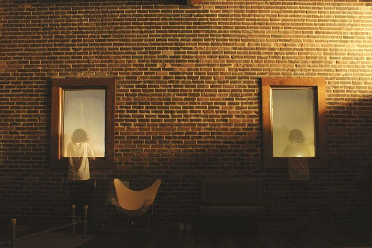 Nightphotography Trick Photography Long Exposure Self Portrait Brick Wall