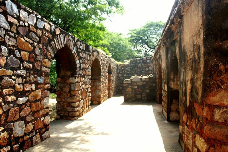 corridor Tree Sunlight Architecture Sky Stone Wall Surrounding Wall Stone Material Ancient Civilization Retaining Wall Arched