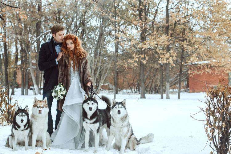 EyeEm Best Shots EyeEm Gallery EyeEmNewHere Cold Temperature Couple - Relationship Day Dog Domestic Animals Eye4photography  Fur Coat Happiness Lifestyles Love Men Nature Outdoors Pets Smiling Togetherness Two People Warm Clothing Winter Women Young Men Young Women