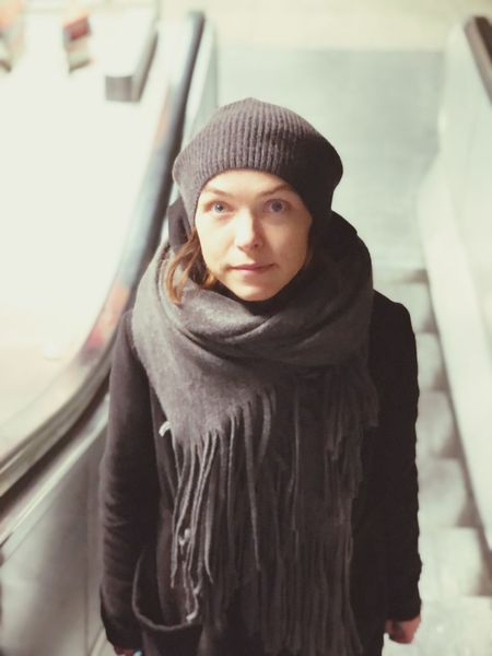 EyeEm Selects Knit Hat Warm Clothing Front View One Person Young Adult Day Adult Close-up Real People Young Women Portrait Cold Temperature