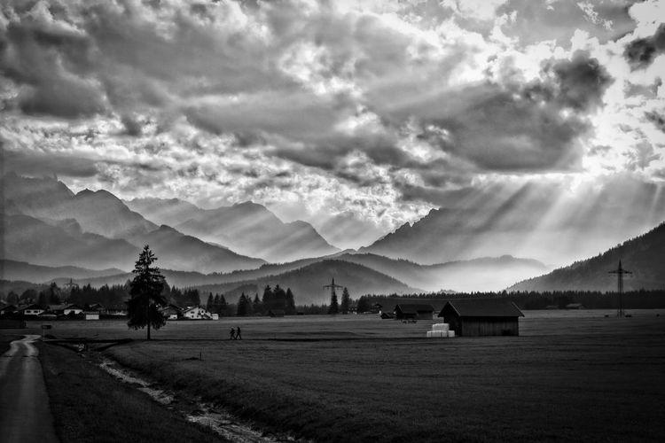 Mountains,light,Zugspitze,landscape