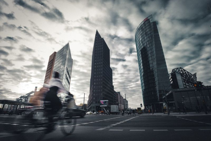 Skyscraper City Architecture Sky City Life Cloud - Sky The Week Of Eyeem The Week On Eyem The Street Photographer - 2016 EyeEm Awards Authentic Moments Berlin Potsdamer Platz Discover Berlin
