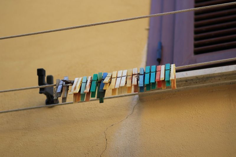 Clothespin No People Wall - Building Feature Clothesline Hanging Drying Built Structure Sand