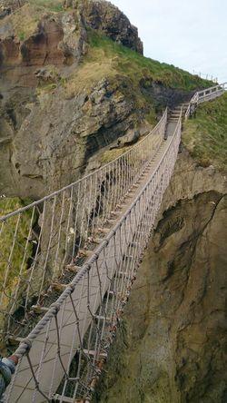Walking Northern Ireland Carrick-a-Rede Rope Bridge