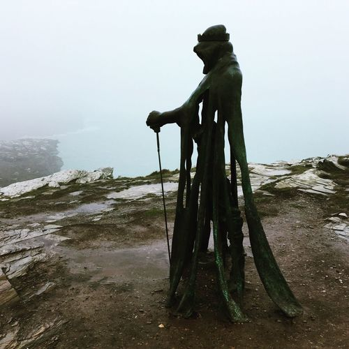 Tintagel Castle Cornwall Legends Myths Pendragon Kingarthur Avalon King Travel Travel Photography Sea Coastline Sculpture Amazing View Amazing Places Cornish Coast Location Travelling