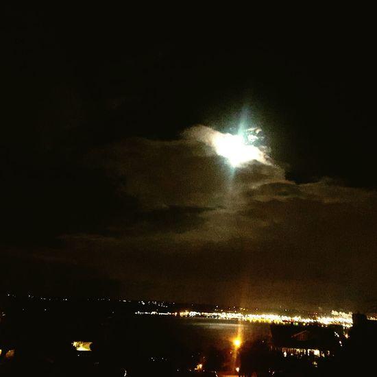Battle of the Lights. Ttown Tacoma_WA Tacoma Moon_collection PortOfTacoma Moonporn Moonlight City Lights Night Lights Nightphotography NightyNight