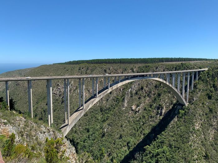 Bloukrans Bridge Bungee in South Africa Brücke Architecture Landscape Landschaft Bungy Bungee Jumping Bridge Bridges Bridge View South Africa Südafrika ShotOnIphone Nofilter Environment Tranquil Scene Land Plant Copy Space Sunlight Day Built Structure Landscape No People Nature Clear Sky Beauty In Nature Sky Tranquility Outdoors Blue