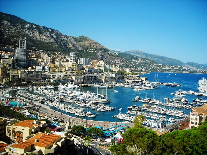 Port Monaco Monaco Port Port Monaco Hills Hills And Sea Sea Water Travel Destinations Clear Sky Blue Stories From The City
